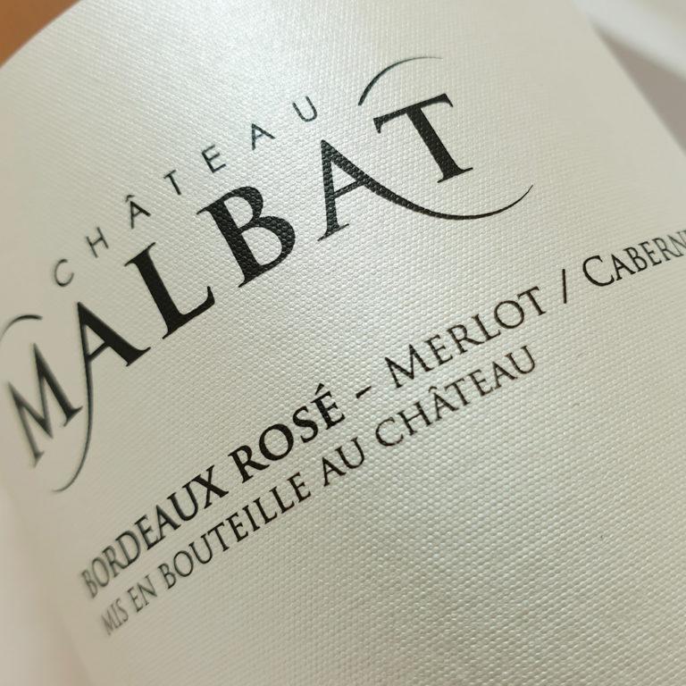 Château Malbat AOP Bordeaux Rosé Authentique