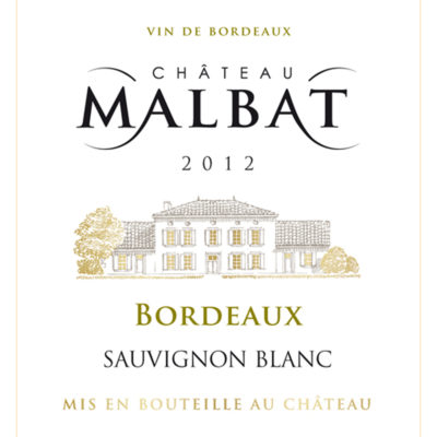 Château Malbat AOP Bordeaux Blanc